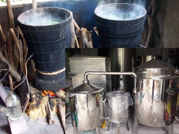 Bộ nồi nấu rượu thủ công bằng than củi – Nồi chưng cất tinh dầu KAG